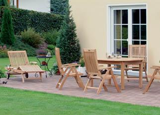 Gartenmöbel Alu Teak Holz Kunststoff von Batavia